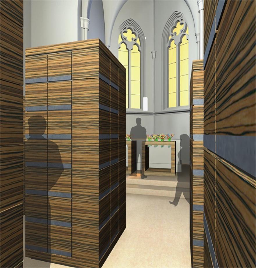 Wettbewerb Columbarium Allerheiligenkirche . 2006
